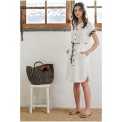 Vestido blanco Hongo